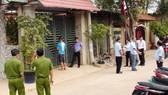 Lực lượng công an kiểm tra tại căn nhà bà Lệ  