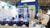 Gian hàng tại Hội chợ triển lãm. Ảnh: Trang tin điện tử Đảng bộ TPHCM