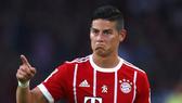 Do dính chấn thương, tân binh James Rodriguez của Bayern Munich sẽ phải vắng mặt từ 2 đến 3 tuần.