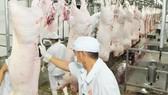 Chế biến thịt heo VietGAP cung ứng thị trường tại Công ty Vissan. Ảnh: CAO THĂNG