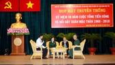 Các cựu chiến binh Tiểu đoàn 6 Bình Tân anh hùng giao lưu tại buổi họp mặt