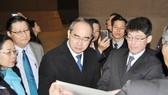 Bí thư Thành ủy TPHCM Nguyễn Thiện Nhân thăm công trình thoát nước ngầm khổng lồ nhất thế giới