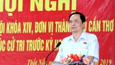 Chủ tịch Ủy ban Trung ương MTTQ Việt Nam tiếp xúc cử tri tại Cần Thơ
