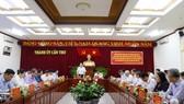 Đồng chí Trần Thanh Mẫn làm việc với Ban Thường vụ Thành ủy Cần Thơ