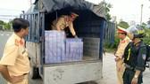 Phương tiện cùng tang vật bị lực lượng chức năng tỉnh An Giang phát hiện và bắt giữ