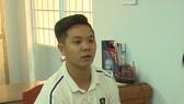 Đối tượng Dương Nguyễn Hoàng Vũ tại cơ quan công an. Ảnh: NGHIÊM TÚC