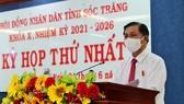 Ông Trần Văn Lâu tái đắc cử Chủ tịch UBND tỉnh Sóc Trăng