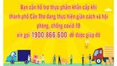 Cần Thơ: Người dân gặp khó khăn về thực phẩm hãy gọi 1900 866 600