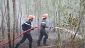 Lực lượng PCCC tỉnh đã có mặt kịp thời để khống chế đám cháy