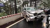 Ôtô tông nhau liên hoàn trên đèo Prenn, 4 người bị thương