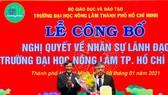 PGS-TS Huỳnh Thanh Hùng giữ quyền hiệu trưởng ĐH Nông lâm TPHCM