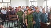 Các bị cáo có mặt tại phiên tòa sáng ngày 9-7.