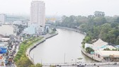 Nhieu Loc-Thi Nghe canal after being cleaned up (Photo: SGGP)