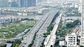 Ben Thanh-Suoi Tien metro line's stretch spans over the Saigon River (Photo: SGGP)