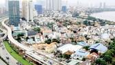 The above ground stretch of Ben Thanh-Suoi Tien metro line (Photo: SGGP)