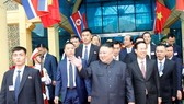 Chairman of the Workers' Party of Korea (WPK) and the State Affairs Commission of the Democratic People's Republic of Korea (DPRK) Kim Jong-un walks out of the Dong Dang station in Vietnam's northern border province of Lang Son on February 26 morning. (Ph