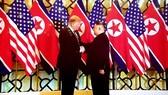 DPRK leader Kim Jong-un (L) and US President Donald Trump met in Hanoi on February 27-28