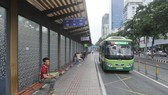 A major bus stop on Ham Nghi Street, District 1, HCMC