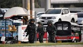 Thai soldiers are sent to the shooting scene (Photo: AFP/VNA)
