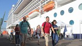 Visitors from MSC Splendida cruise ship in Thi Vai Port