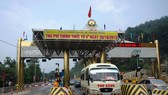 A highway toll station put out of service after backlash from locals