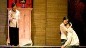 Một cảnh trong vở báo cáo tốt nghiệp Hiu hiu gió bấc của đạo diễn Lê Đăng Khoa, Trường ĐH Sân khấu và Điện ảnh TPHCM
