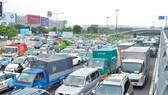Kẹt xe tại sân bay Tân Sơn Nhất