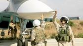 Các phi công của Nga tại căn cứ Hmeimim ở Syria