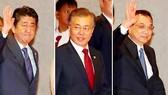 Các lãnh đạo Nhật Bản, Hàn Quốc, Trung Quốc sẽ thảo luận các biện pháp thúc đẩy giao lưu và hợp tác kinh tế giữa ba nước. Ảnh: YONHAP
