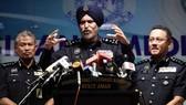 Amar Singh, người đứng đầu Cục Điều tra Tội phạm Thương mại Malaysia (CCID), tại cuộc họp báo ngày 25-5-2018. THE STAR