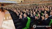 Các đại biểu tham dự sự kiện diễn ra tại Bình Nhưỡng, ngày 5-10,  kỷ niệm 11 năm ngày tiến hành hội nghị thượng đỉnh liên Triều lần thứ 2. Ảnh: Yonhap