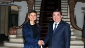 Chủ tịch UBND TPHCM  Nguyễn Thành Phong tiếp bà Cathy Berx, Thống đốc tỉnh Antwerp (Vương quốc Bỉ)
