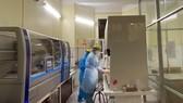 Xác định virus SARS-CoV-2 bằng máy sinh học phân tử Realtime PCR tự động. Ảnh: TTXVN