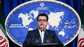 Người phát ngôn Bộ Ngoại giao Iran Abbas Mousavi phát biểu tại cuộc họp báo ở Tehran. Ảnh: IRNA/TTXVN