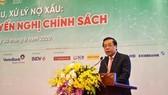 Phó Thống đốc NHNN Nguyễn Kim Ảnh phát biểu. Ảnh:VGP.