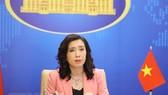 Người Phát ngôn Bộ Ngoại giao Lê Thị Thu Hằng trả lời các câu hỏi của phóng viên trong nước và quốc tế. Ảnh: TTXVN