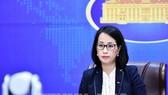 Phó phát ngôn viên Bộ Ngoại giao Phạm Thu Hằng tại buổi họp báo trực tuyến chiều 19-8. Ảnh: TTXVN