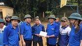 Động viên lực lượng Đoàn viên thanh niên huyện Mù Căng Chải khắc phục hậu quả mưa lũ ở địa phương