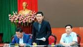 Chủ tịch UBND quận Ba Đình trả lời báo chí tại buổi giao ban chiều 25-2