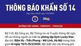 Bộ Y tế khẩn cấp tìm người tới phòng tập Gym Lucky Star ở Mê Linh, Hà Nội
