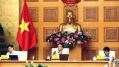 Phó Thủ tướng Vũ Đức Đam chủ trì cuộc họp Ban Chỉ đạo Quốc gia phòng chống dịch Covid-19. Ảnh VGP/Đình Nam