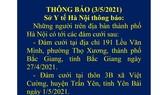 Hà Nội khẩn cấp tìm người tới dự 2 đám cưới ở Bắc Giang, Yên Bái có ca mắc và nghi mắc Covid-19