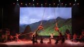 Một tiết mục biểu diễn của đoàn BĐBP tỉnh Thừa Thiên - Huế