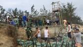 Nỗ lực khắc phục sạt lở do xâm thực gây ra tại khu vực bờ biển xã Phong Hải, huyện Phong Điền, tỉnh Thừa Thiên - Huế