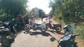 Hiện trường vụ tai nạn giao thông khiến 1 người tử vong.