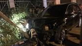Phó Công an thị xã Đồng Xoài lái xe gây tai nạn