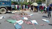 Số hải sản bôc mùi hôi thối bị đổ xuống quốc lộ 1A