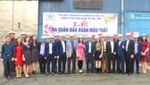 Lãnh đạo UBND tỉnh Hà Tĩnh đến chúc mừng cán bộ, công nhân viên Công ty Cổ phần Cảng Quốc tế Lào - Việt tại lễ ra quân đầu xuân năm mới Mậu Tuất 2018