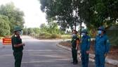 Lực lượng chức năng đang làm nhiệm vụ tại khu cách ly tập trung ở Hà Tĩnh