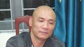 Đối tượng Trần Quang Trung tại cơ quan công an. Ảnh: Công an Hà Tĩnh cung cấp